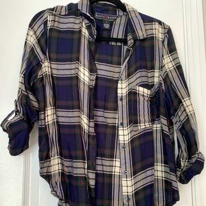 Cute plaid button up for fall/winter wardrobe